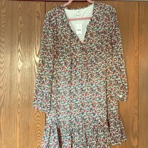 J. Crew multi-color floral dress NEW WITH TAGS